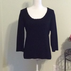 ❤️Cable & Gauge black ribbed knit sweater, size M